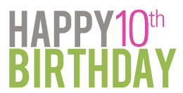 Happy 10th birthday message